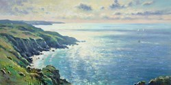 Cornish Coast by James Preston -  sized 39x20 inches. Available from Whitewall Galleries